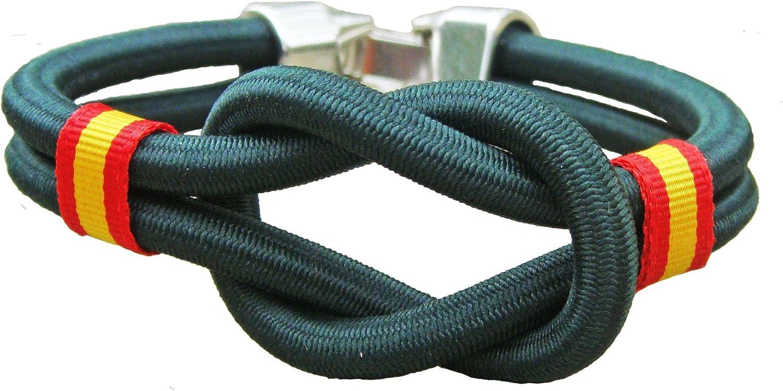 Pi2010 - Pulsera España Nudo cordón Nylon Verde, 19cm: Amazon.es: Joyería