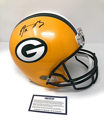 c4cdb7829 Aaron Rodgers Green Bay Packers Signed Autograph Full Size Helmet Steiner  Sports Certified