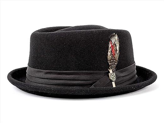57b18fa2bd8a0 Brixton Stout - Sombrero Player para hombre - negro  Amazon.es  Ropa y  accesorios