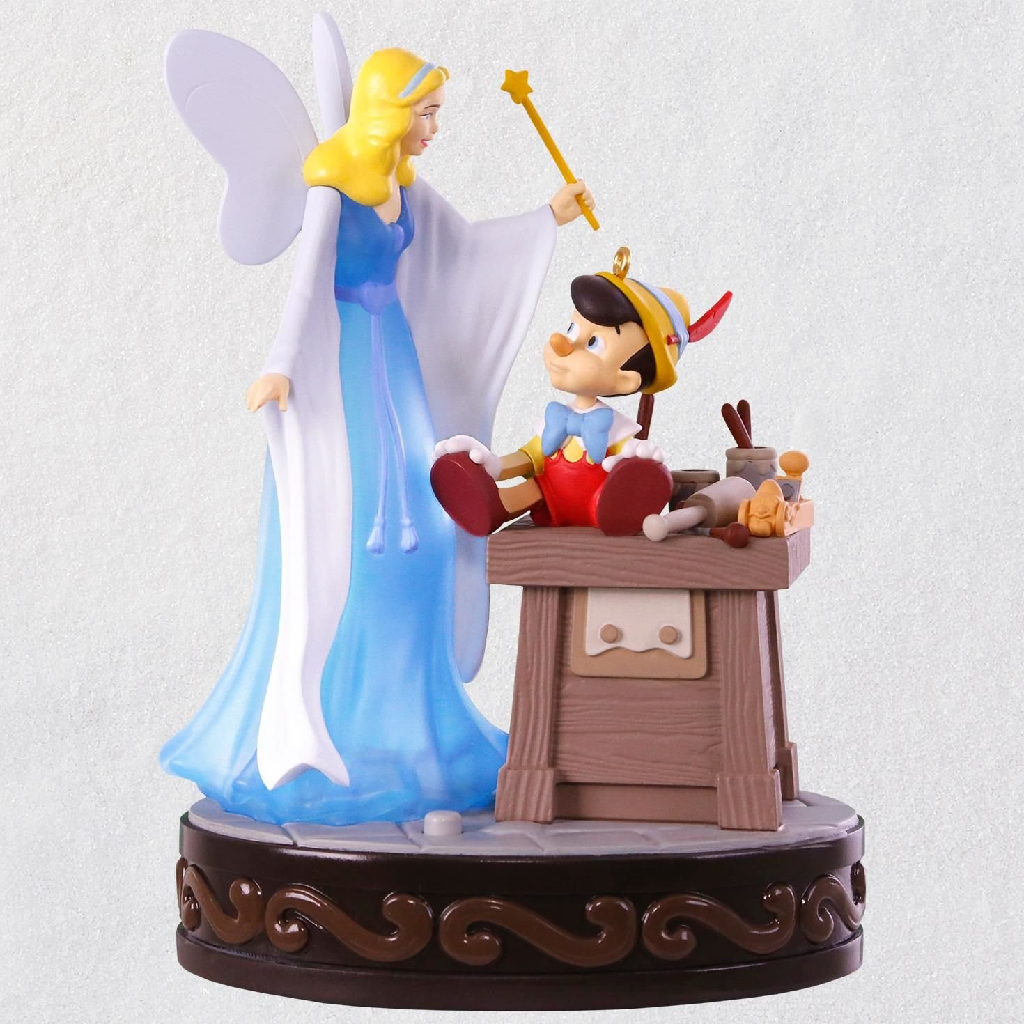 Hallmark Disney Pinocchio A Real Boy Ornament With Light and Sound keepsake-ornaments Movies & TV
