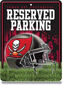 Rico Industries NFL Fan Shop 8.5-Inch by 11-Inch Metal Parking Sign Décor