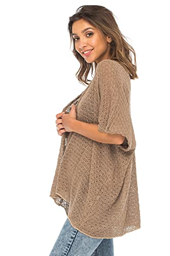 d1c04333980 Back From Bali Womens Long Shrug Cotton Cardigan Sweater