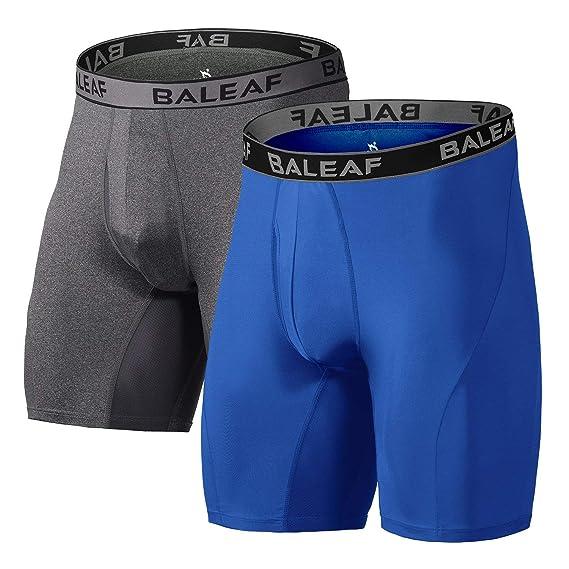 Baleaf Herren 9 Zoll Boxer Brief Sports Performance Unterhose Boxershorts 2er Pack
