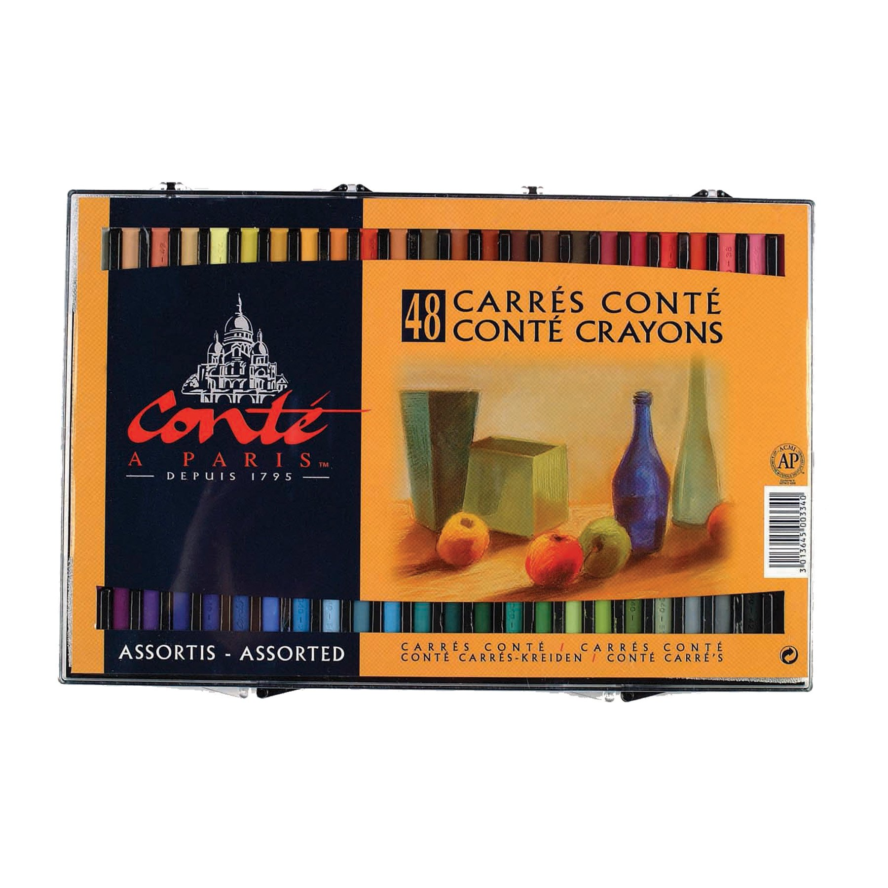 Conte Assorted Crayons, 48 Pack