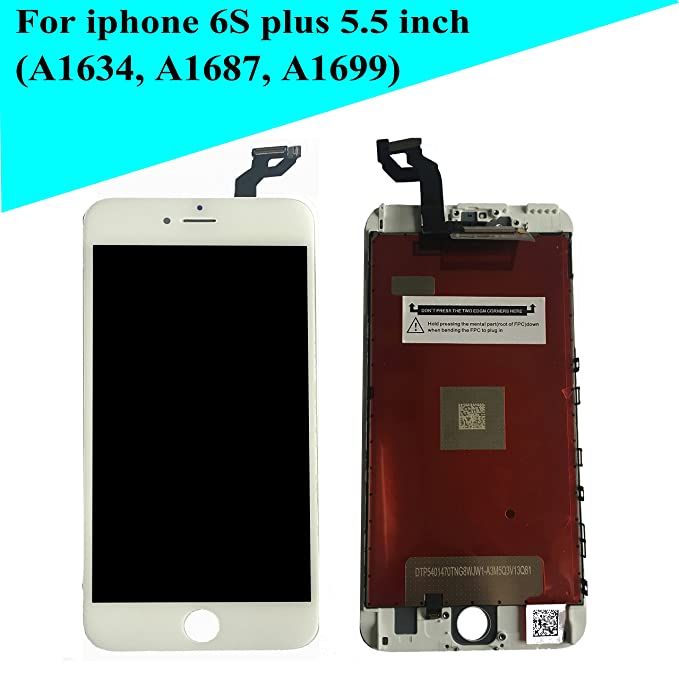 amazon com new white lcd screeen replacement for iphone 6s plus 5 5