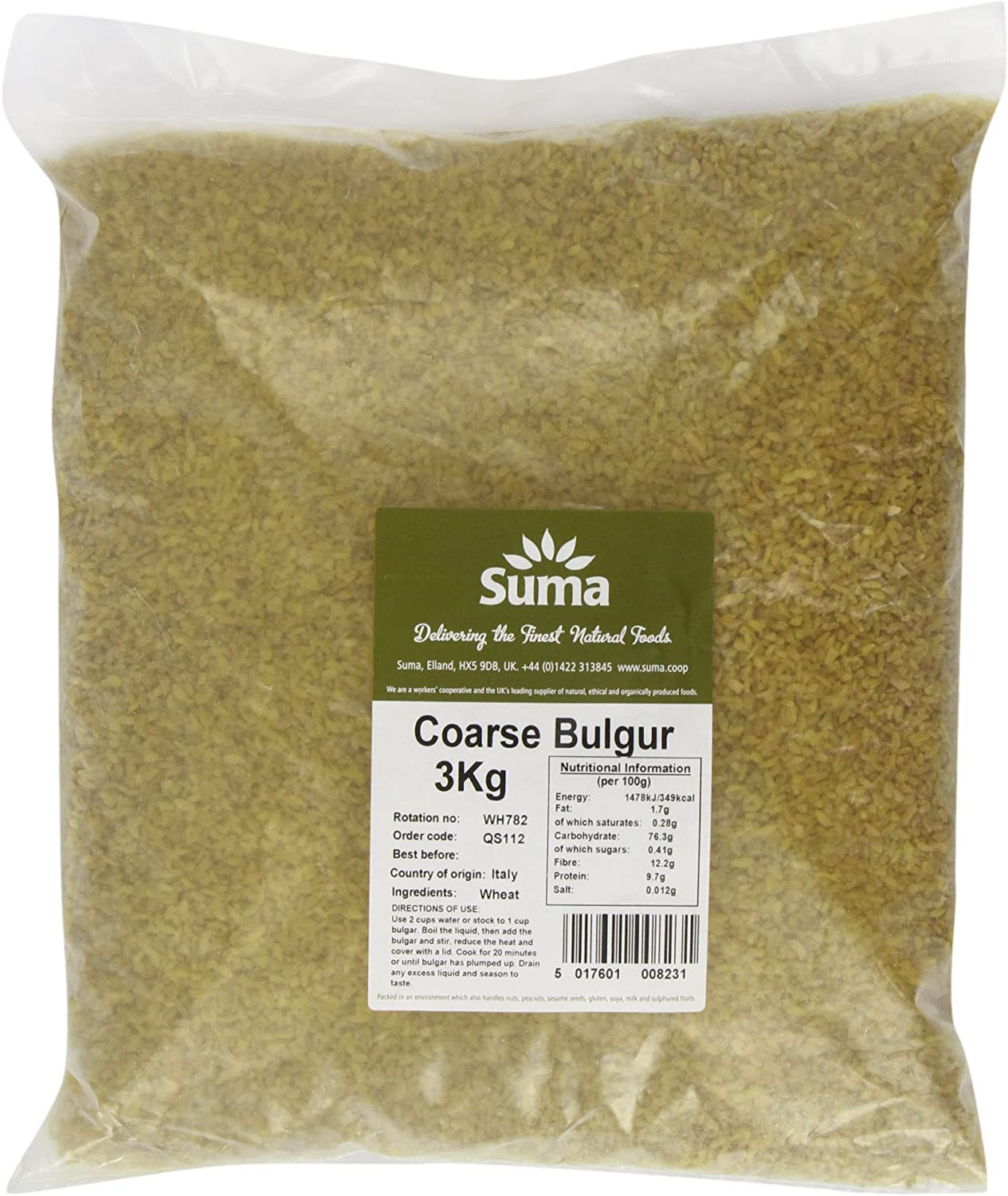 Suma Coarse Bulgar Wheat 3kg