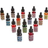 Dr. Ph. Martin's Radiant Concentrated Water Color Bottles, 0.5 oz, Set of 14 (Set D)