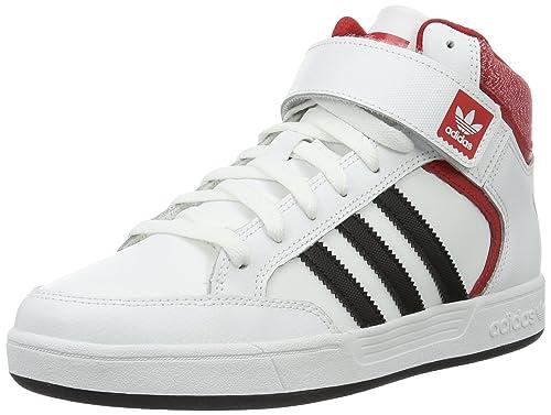 buy online 4c83d 6c57c adidas Varial Mid, Zapatillas Altas para Hombre, Blanco (FTWR White Core  Black Scarlet), 36 EU  Amazon.es  Zapatos y complementos