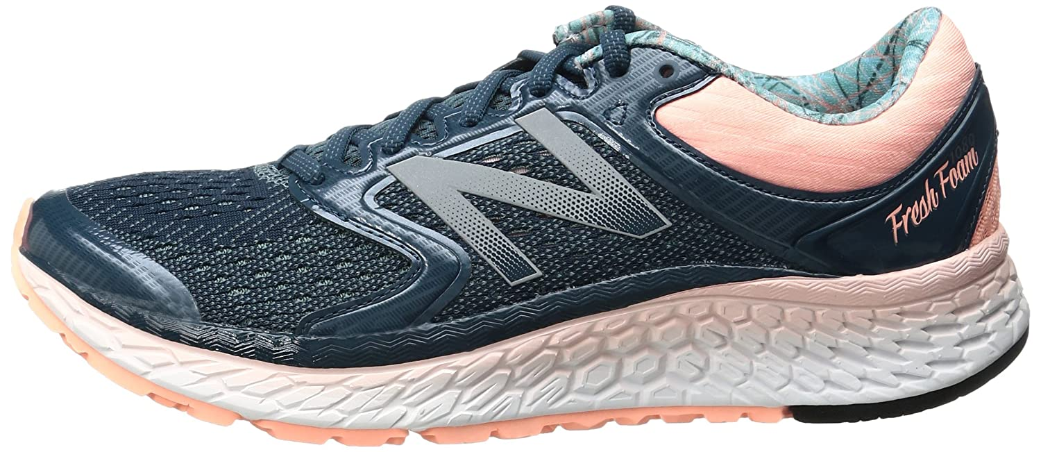 New Balance Women's Fresh Foam 1080v7 Running Shoe B01FSIXUGO 5.5 B(M) US|Supercell/Sunrise