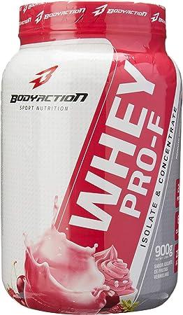 Whey Pro-F, Bodyaction, Iogurte com Frutas Vermelhas, 900 G