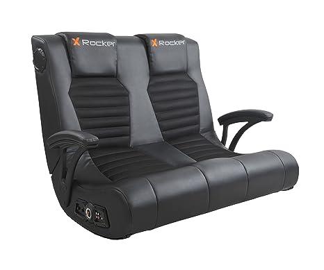 Sensational Amazon Com X Rocker Dual Commander Gaming Chair 2 1 Audio Short Links Chair Design For Home Short Linksinfo