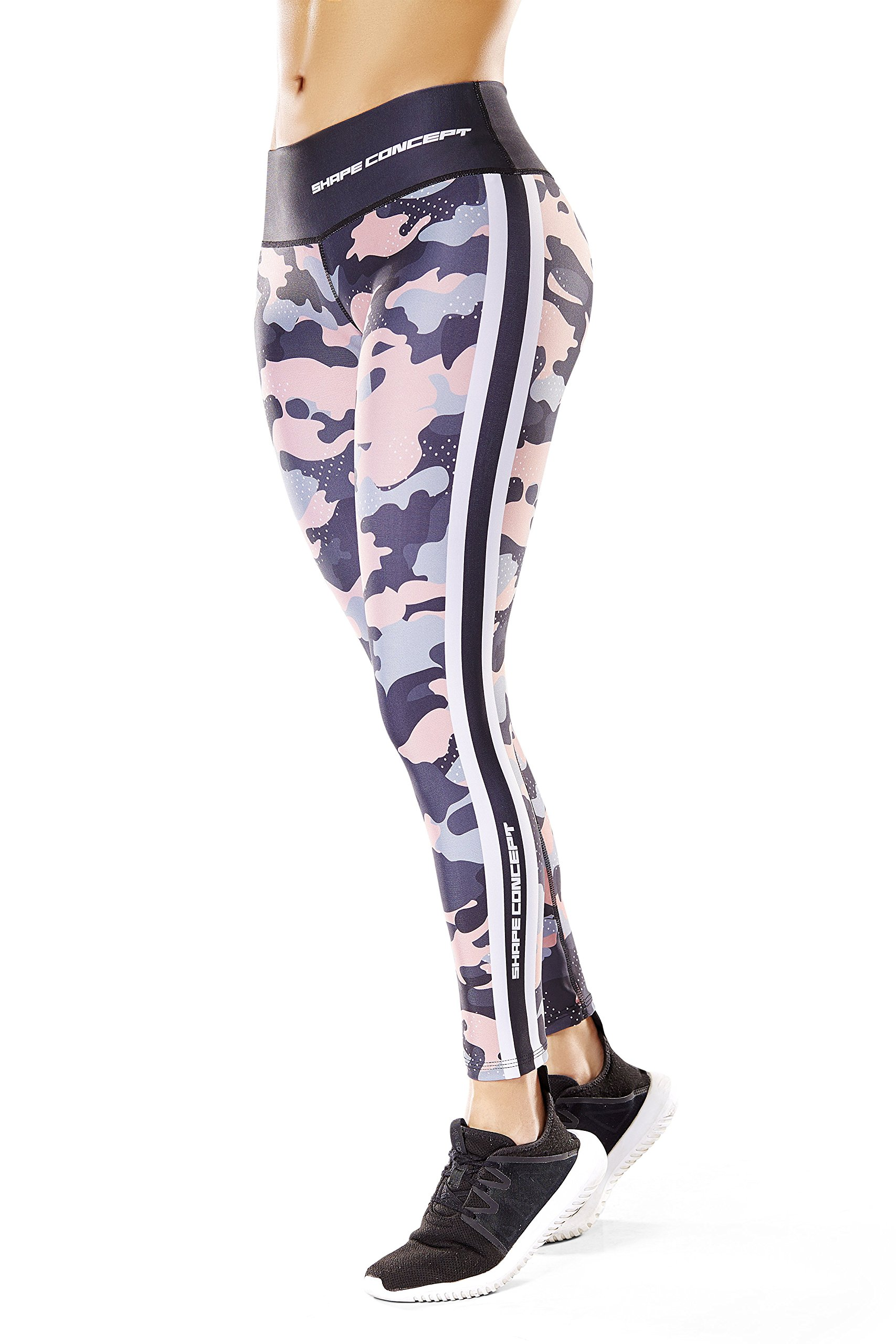 Shape Concept Colombian Workout high Waisted Leggings for Women | Compression Tight Crossfit Yoga Pants Many Styles (SCL008)