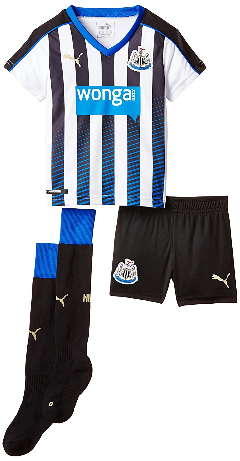 Puma Boy's Replica Football Jersey Newcastle Home Kit with Socks Black Black, White 747903 01