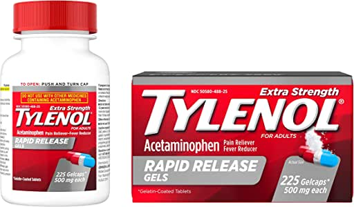 Amazon.com: Tylenol Extra Strength Rapid Release Gels with ...