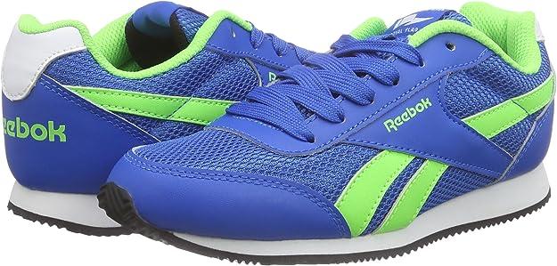 Reebok Royal Cljog 2 Zapatillas, Bebé-niños, Azul/Verde/Blanco/Negro, 30 1/2: Amazon.es: Zapatos y complementos