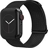 TalkWorks Compatible for Apple Watch Band 42mm / 44mm Comfort Fit Mesh Loop Stainless Steel Adjustable Magnetic Strap for iWa