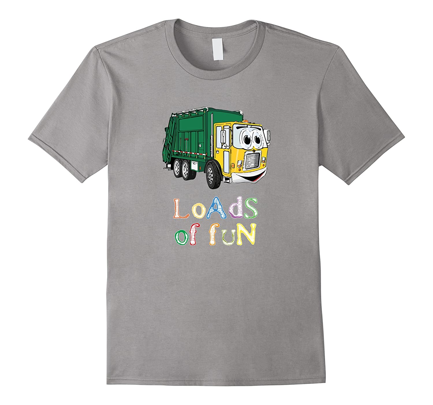 Garbage  Trash Truck T-Shirt for kids and adults  white-CD