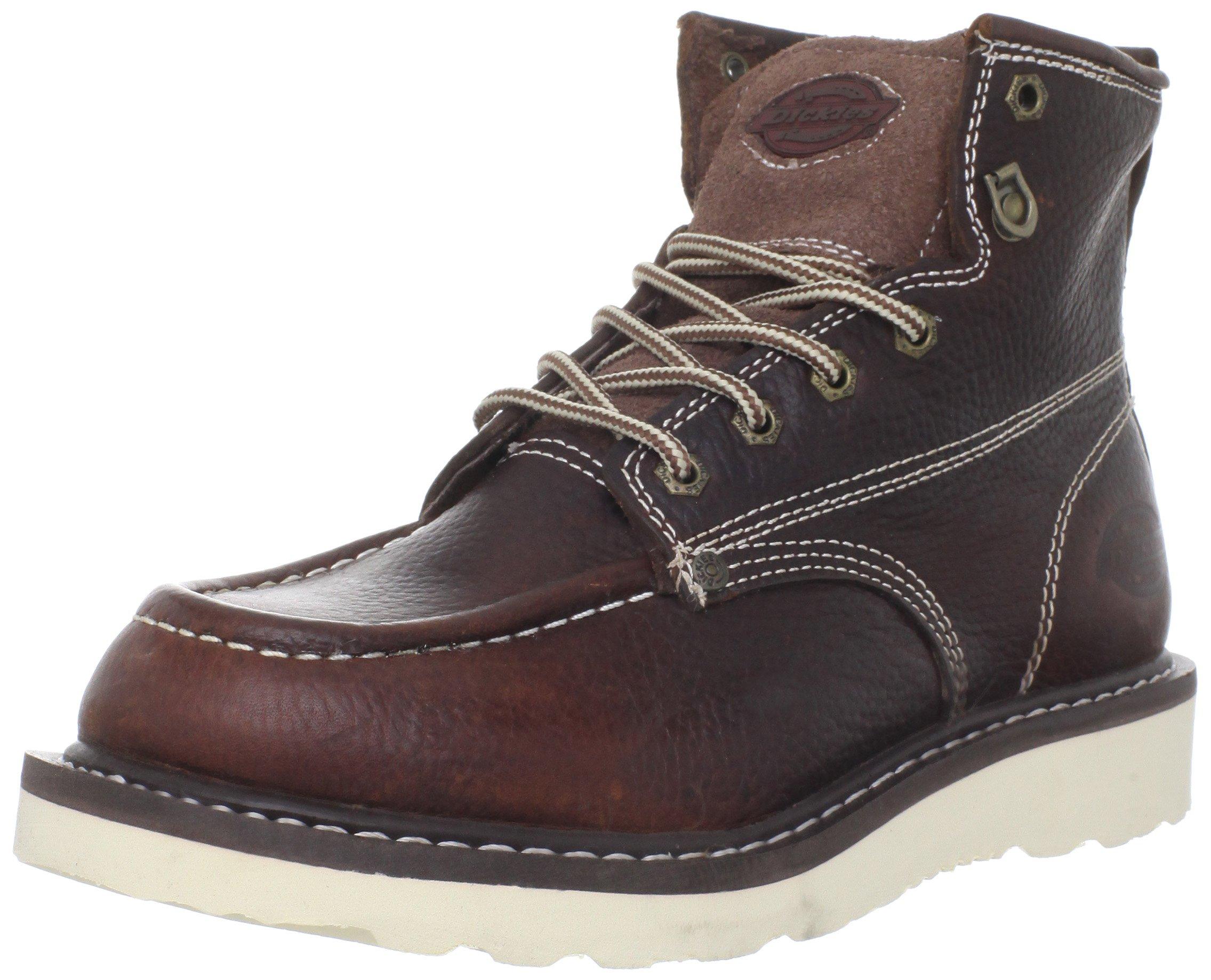 Dickies Men's Trader 6'' Leather Boot,Burgandy,9 M US by Dickies