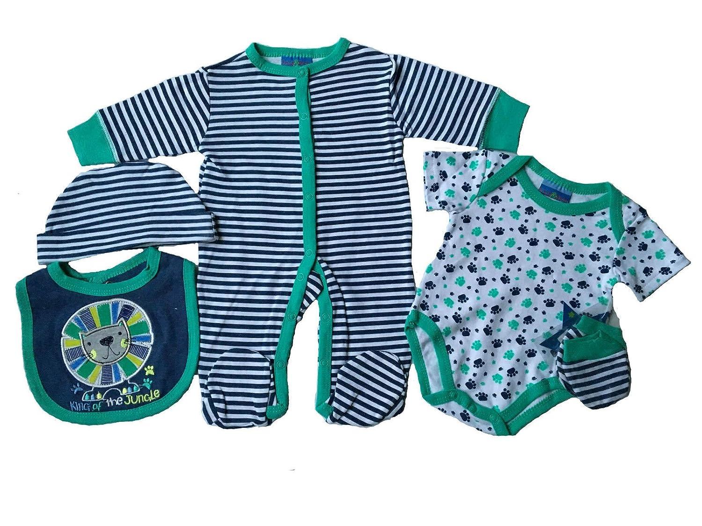 LILY /& JACK Sleepsuit gift set 5 Pieces babygro  Space