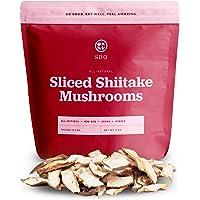 SBO Sliced Shiitake Mushrooms - Resealable 8 oz Bag of Non-GMO Kosher Vegan Dried White Flower Shiitake Mushroom - Free…