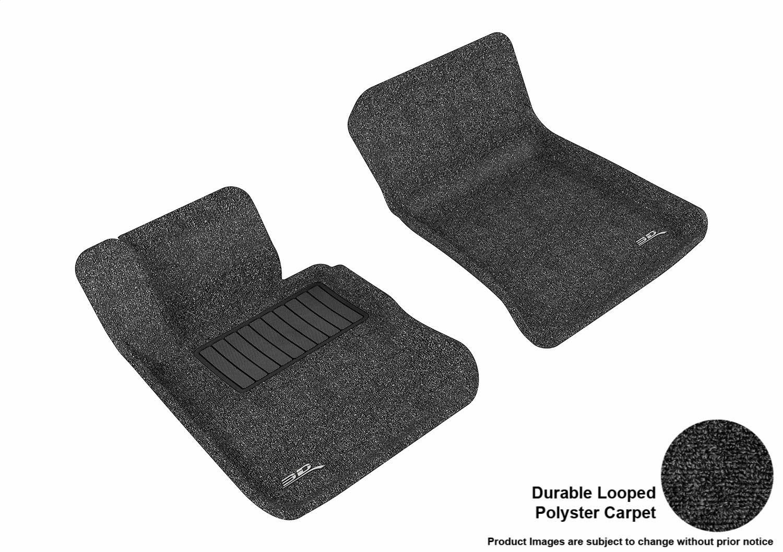 3D MAXpider Second Row Custom Fit All-Weather Floor Mat for Select BMW X1 L1BM01722209 Black Models E84 Classic Carpet