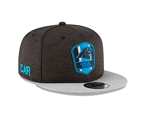 6e2540fbb Image Unavailable. Image not available for. Color: New Era Carolina Panthers  2018 NFL Sideline Road Official 9FIFTY Snapback Hat
