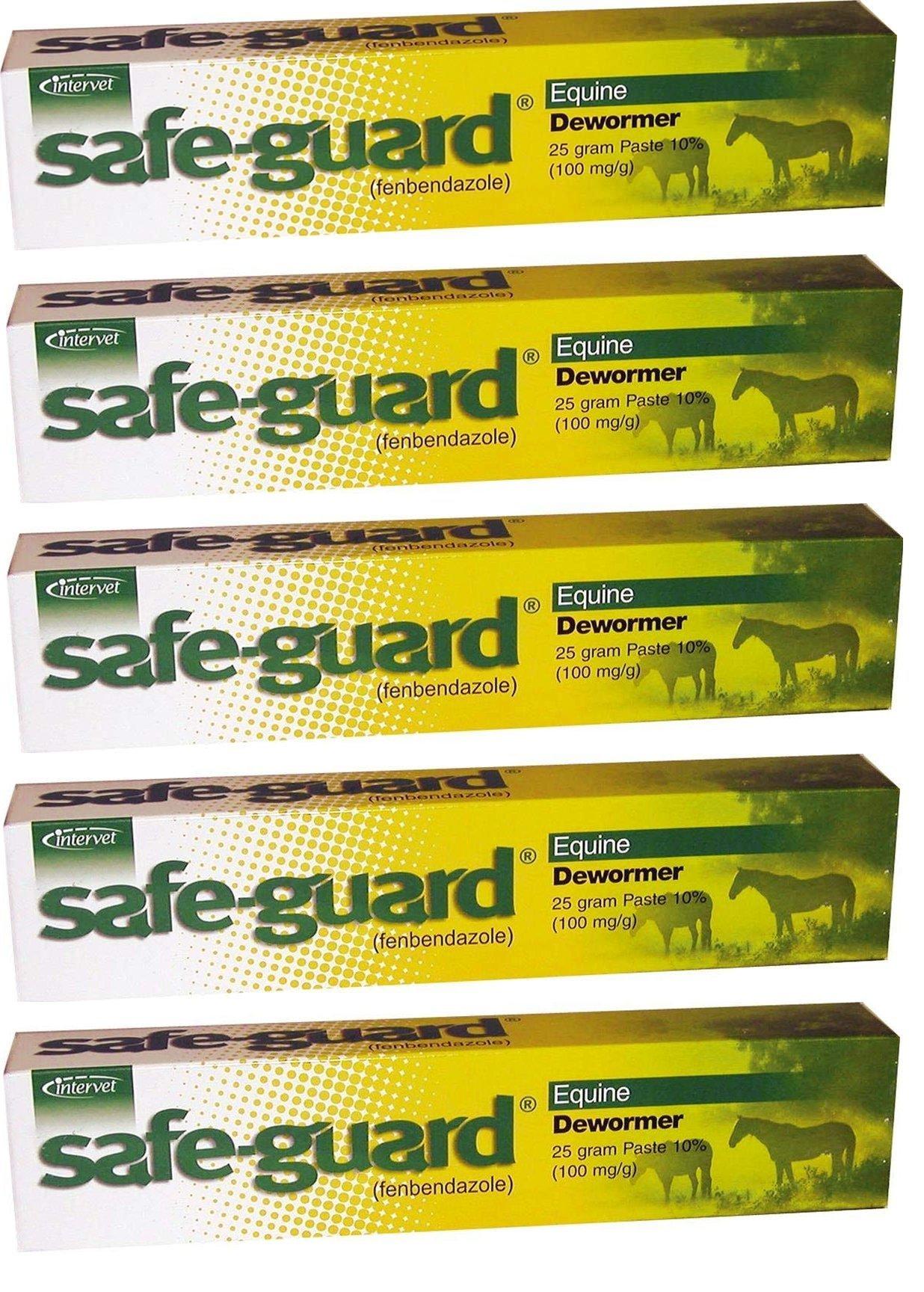 Merck Intervet Safeguard Dewormer Paste for Horses, 25gm (5-Pack), by Merck