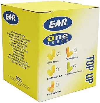 3M E-A-R E-A-Rsoft Bolsa de relleno de tapones desechables Amarillo NEÓN 36 dB (