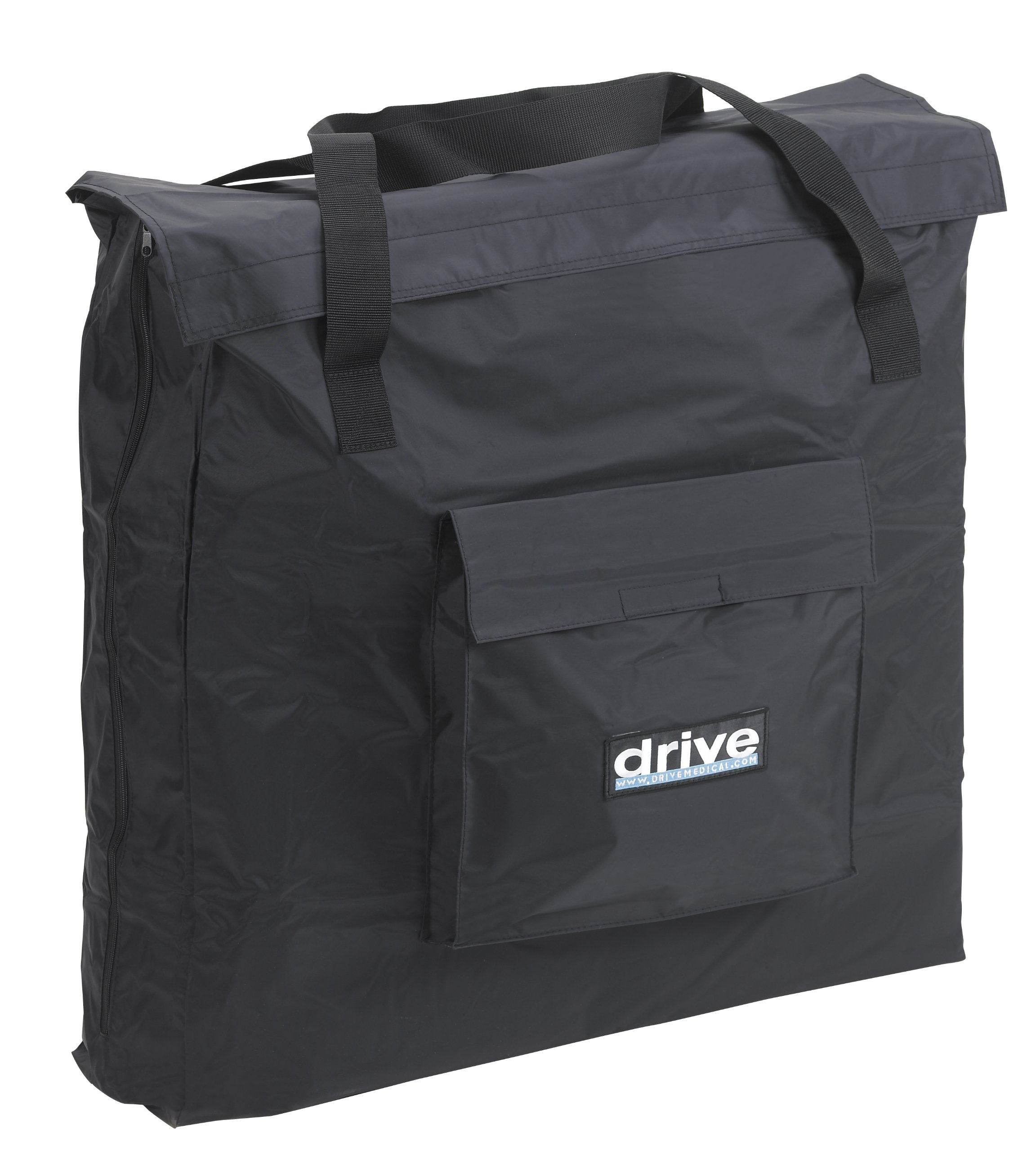 Drive Medical Carry Bag for Standard Style Transport Chairs, Black, 20'' x 17'' x 17''