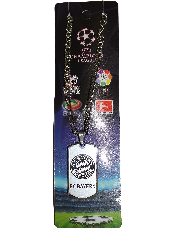 Bayern Munchen Fc Futbolフットボールサッカーロゴメタルタグチェーンネックレス B00IZKX9K0
