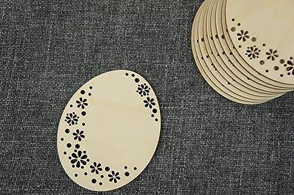 10x Osterei Ei Tiere Blank Form Holz Ostern Basteln