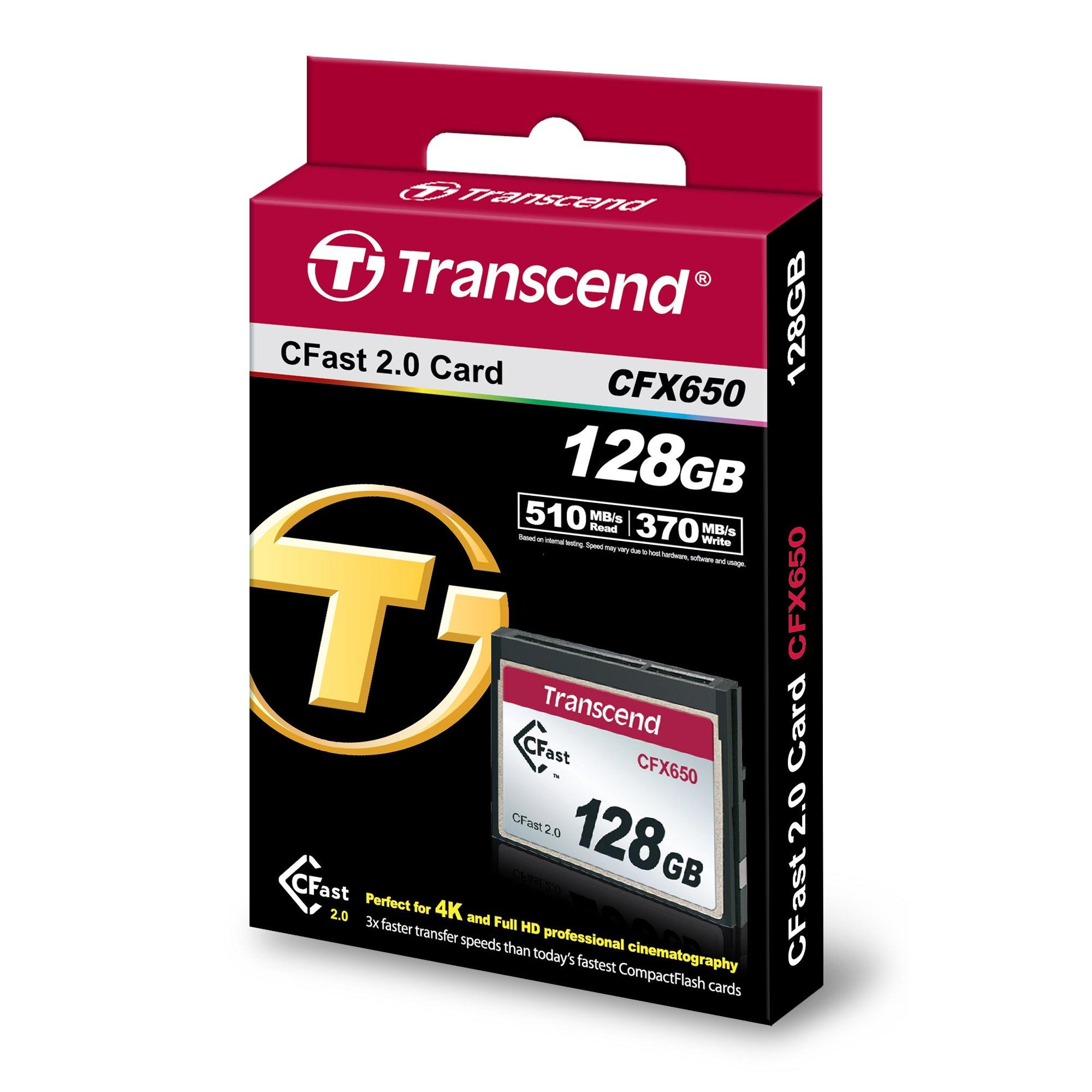 Transcend 128GB, CFast2.0, SATA3, SLC Mode - TS128GCFX650