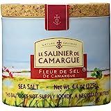 Le Saunier De Camargue Fleur De Sel Sea Salt, 4.4-Ounce Canisters (Pack of 3)