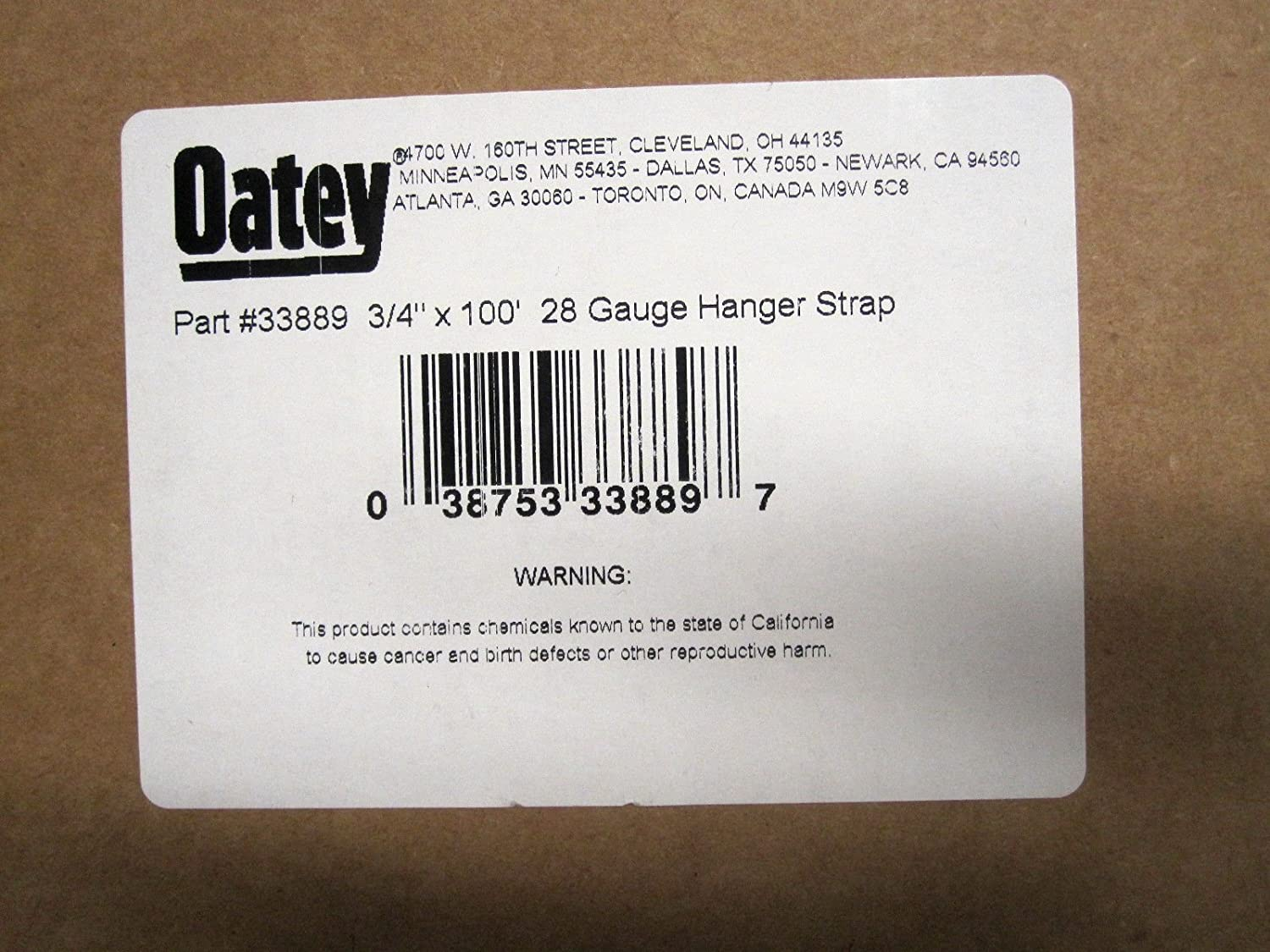 Oatey 33889 Securing Straps 3//4 x 100