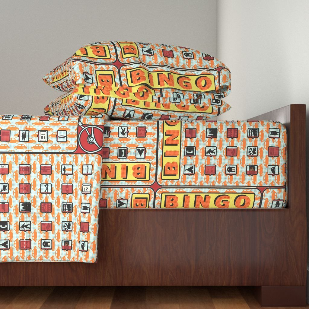 Roostery Highways 3pc Sheet Set Road Trip Bingo! by Thirdhalfstudios Twin Sheet Set made with