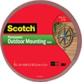 Scotch Permanent Outdoor Mounting Tape, 1 Inch x 450 Inches (4011-LONG)