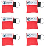 CPR Mask for Pocket or Key chain, CPR Emergency Face Shield with One-way Valve Breathing Barrier for First Aid or AED Trainin