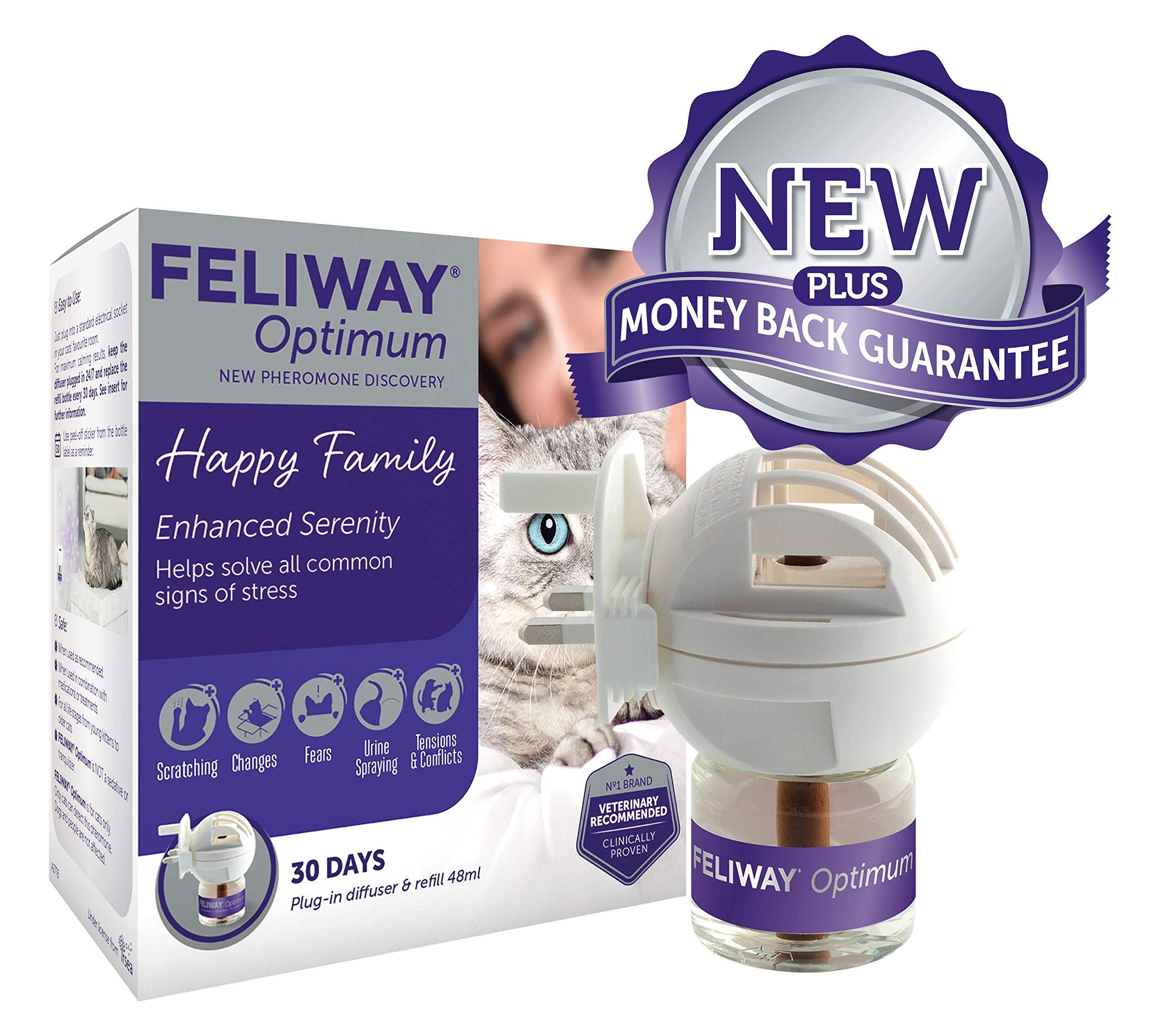 Feliway Optimum Diffuser Starter Kit and Refill, 48ml
