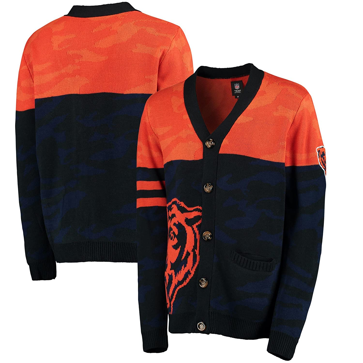 Forever Collectibles NFL Foco迷彩カーディガン Large シカゴベアーズ B07FK8CSW5