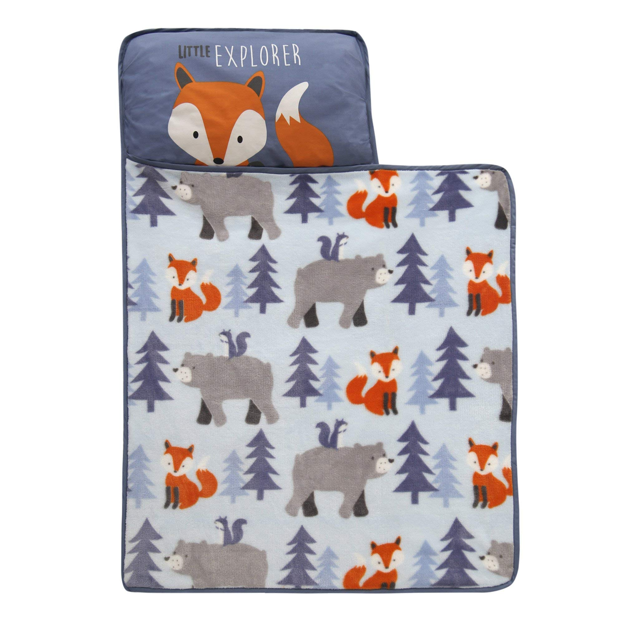 Lambs & Ivy Little Explorer Nap Mat, Blue/Gray/Orange by Lambs & Ivy