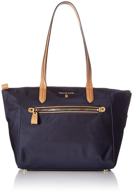 86f496b2b9d1 Michael Kors Women s Medium Kelsey Zip Nylon Top-Handle Bag Tote - Admiral