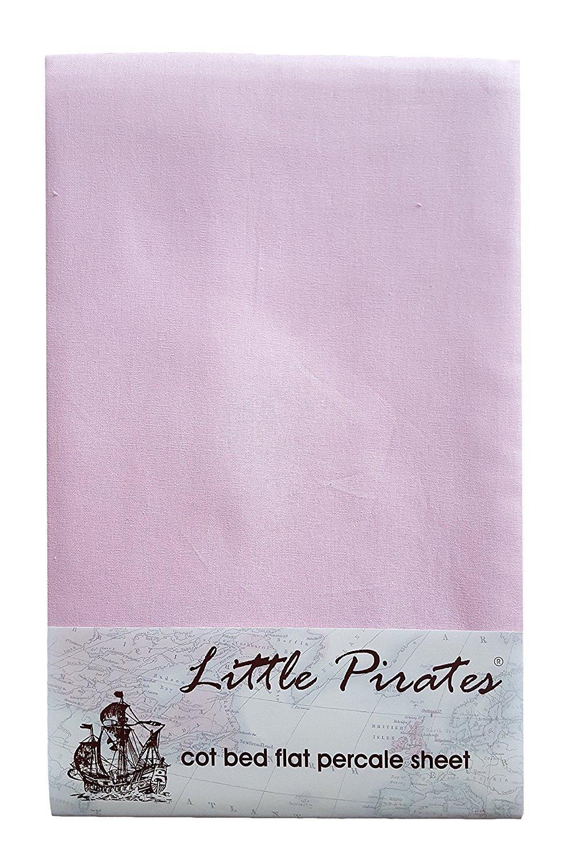 Lenzuolo rosa per culla//lettino 100/% cotone percalle pettinato