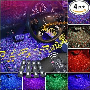 Amazon.com: Luces interiores para coche, luces LED de ...