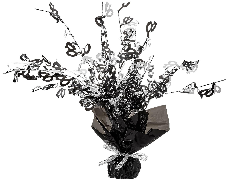 Beistle S57930-40AZ2 40 Gleam N Burst Centerpiece 2 Piece Black//Silver