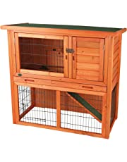 Trixie 62302 Rabbit Hutch with Sloped Roof, Large, Glazed Pine