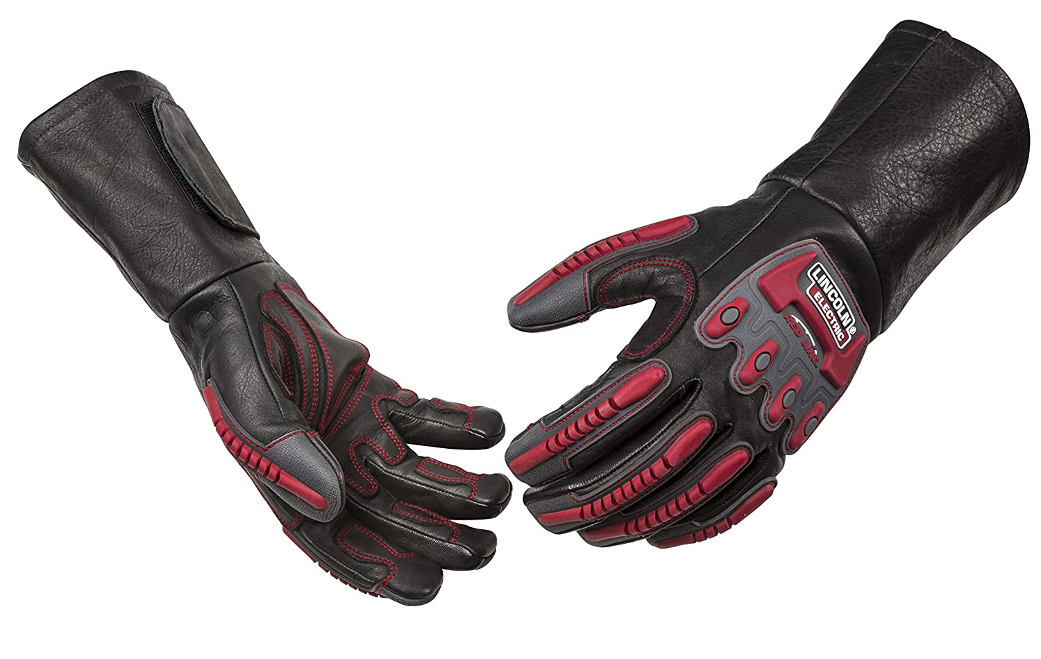 Lincoln Electric Roll Cage Welding/Rigging Gloves | Impact Resistant | Black Grain Leather | K3109-XL
