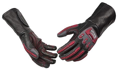 Lincoln eléctrica k3109 M jaula de rollo de soldadura Rigging guantes Medium