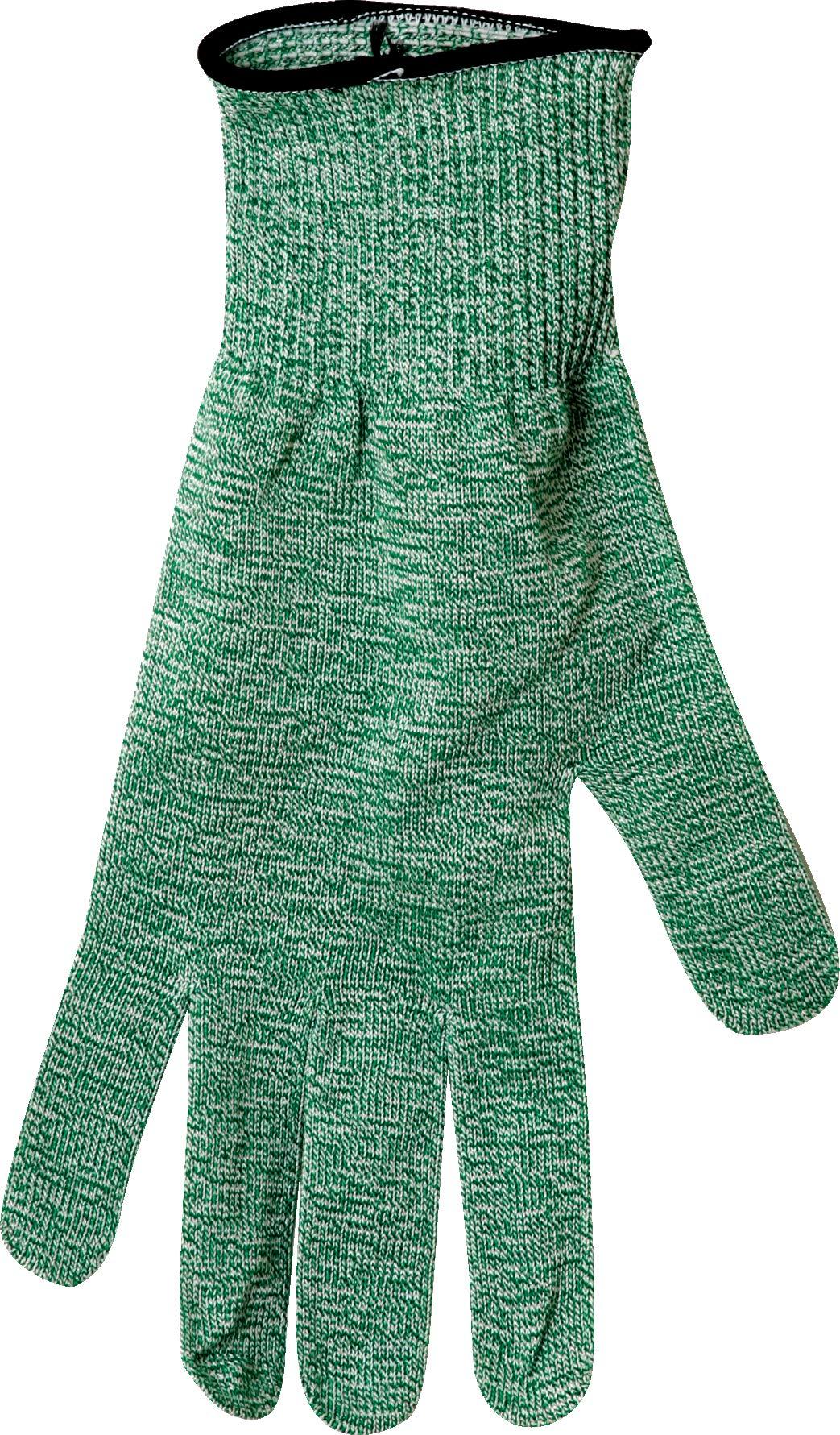 San Jamar SG10-GN-M Spectra Professional Cut-Resistant Glove, Medium, Green