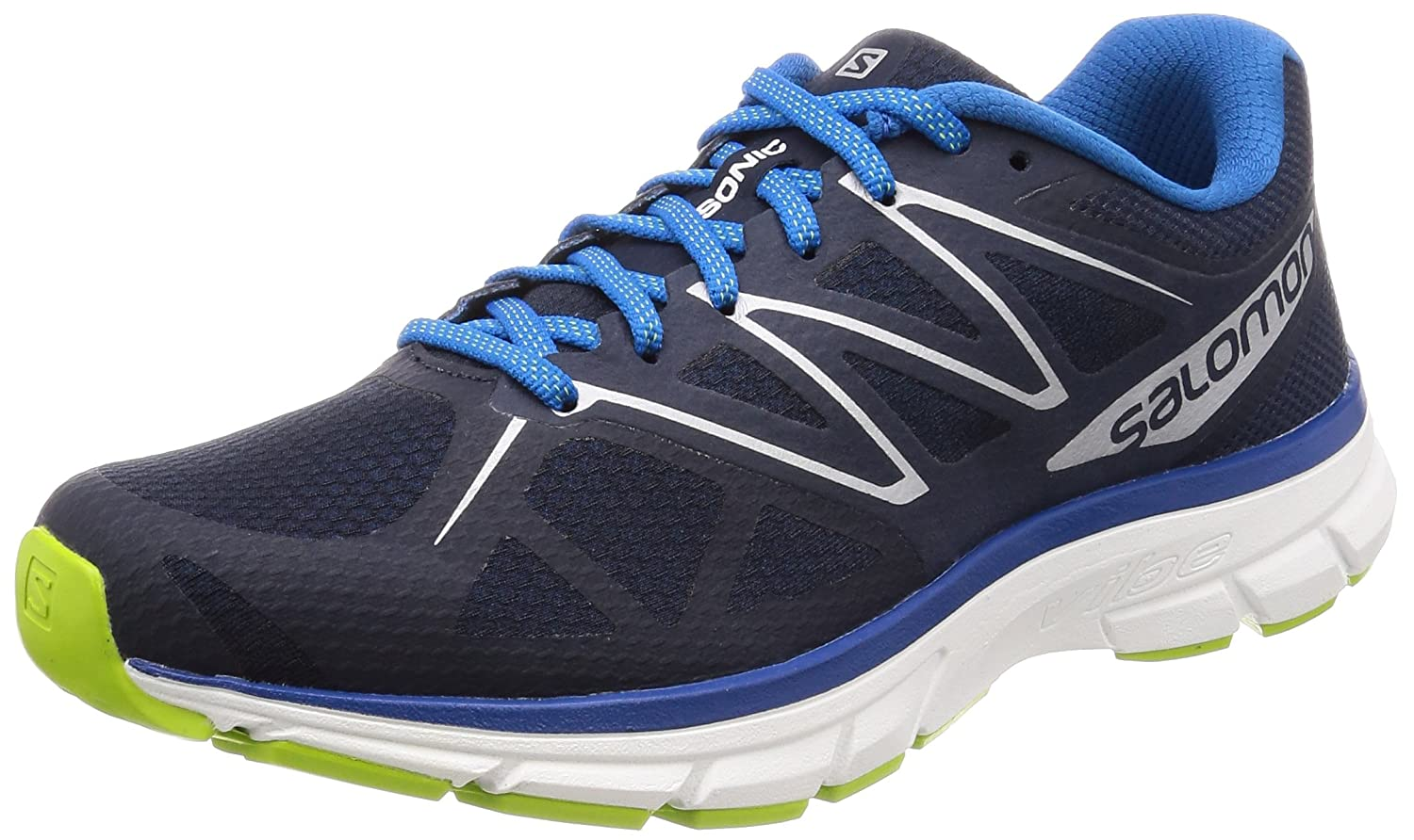 Salomon Sonic, Zapatillas de Trail Running para Hombre 42 EU|Azul (Navy Blazer/White/Imperial Blue)