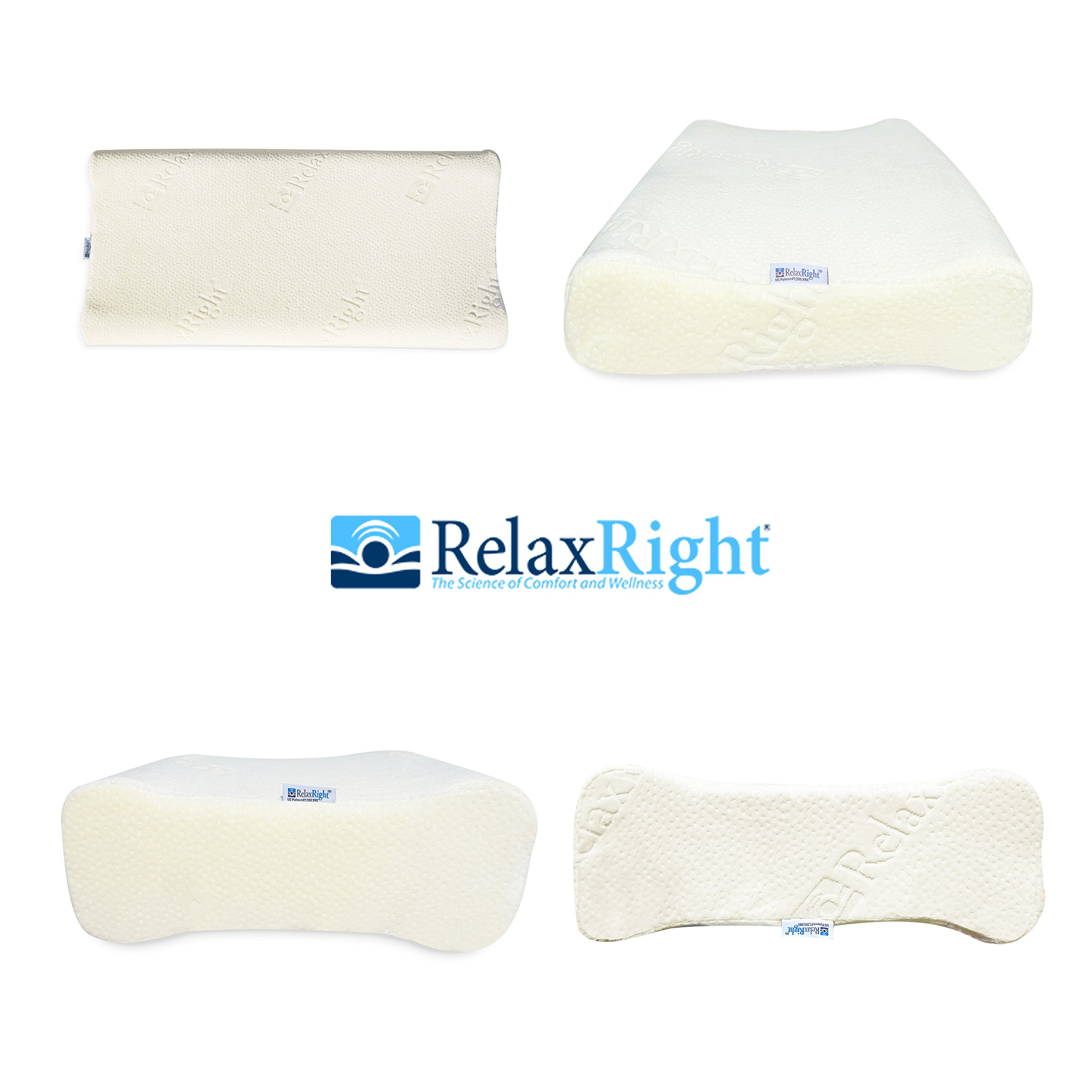 Relax Right (Big Kid Pillow, Specially Sized to Fit a Big Kid Ages 5 & Up, Highest Grade of Memory Foam with Antimicrobial Super Soft Velour Cover that's Breathable, Washable, Hypoallergenic